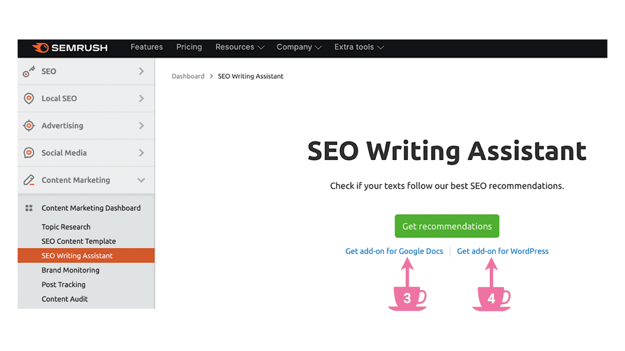 SEO Writing Assistant As a Google Docs add-on
